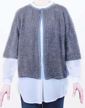 short cut open cardigan