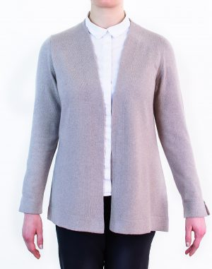 Fitted open cardigan